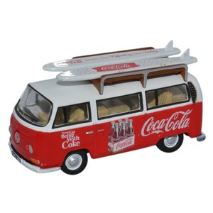 Volkswagen T2 bus Bay Window Coca Cola rood-wit 1:76