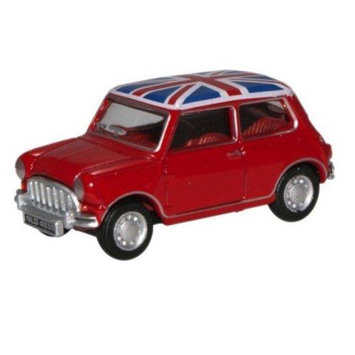 Mini Cooper Union Jack 1:148 rood