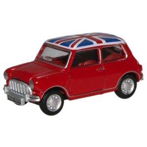 Mini Cooper Union Jack 1:76 rood