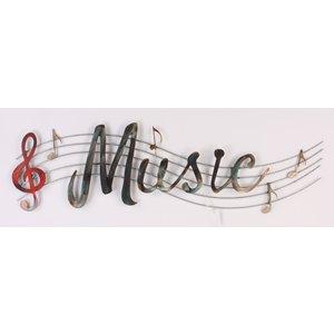 Wanddecoratie Metaal Music