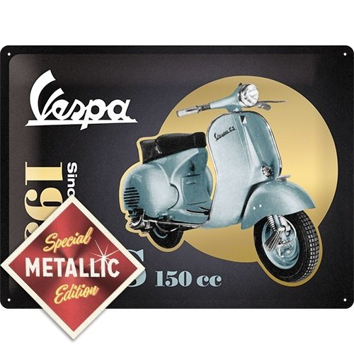 Vespa - GS 150 Since 1955 - Special Edition metalen wandplaat 40x30