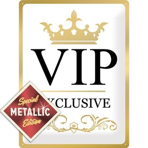 VIP Exclusive - Special Edition metalen wandplaat 30x40