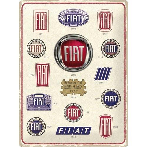 Fiat – Logo Evolution wandplaat 30x40 cm