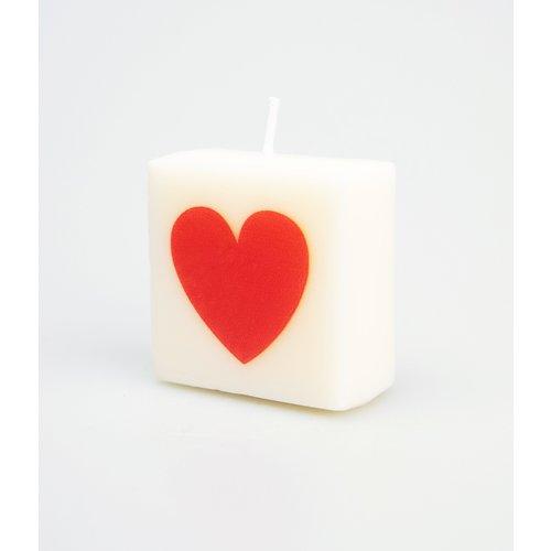 Letterkaarsje - hartje rood