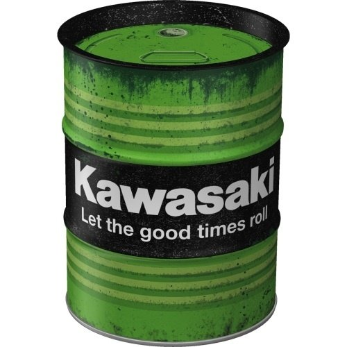 Kawasaki Spardose Ölfass Kawasaki - Let the good times roll