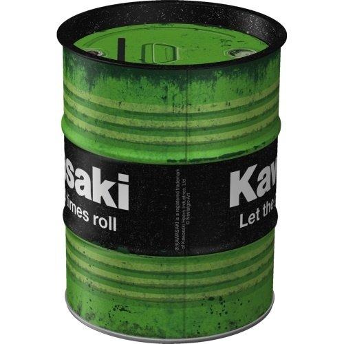 Kawasaki Money Box Oil Barrel Kawasaki - Let the good times roll