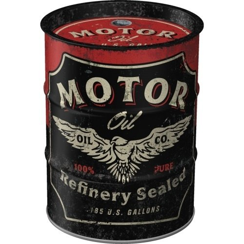 Money Box Oil Barrel Motor Oil