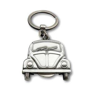 Volkswagen Volkswagen Käfer Schlüsselring Vintage silberne Farbe mit Ladenmünze