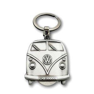 Volkswagen Volkswagen T1 Sleutelhanger Vintage zilver kleur met winkelmunt
