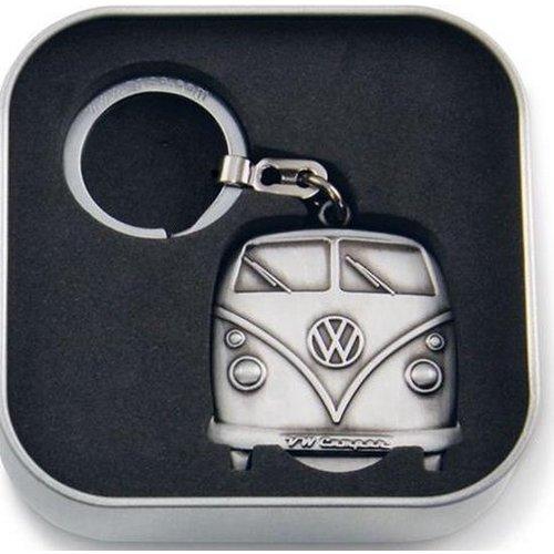 Volkswagen VW T1 Schlüsselring mit silberner Farbe der Ladenmünze