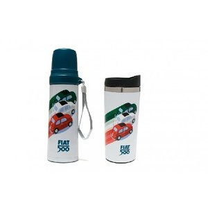 Fiat Fiat 500 Thermoskan + drinkbeker tricolore