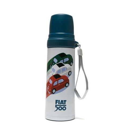 Fiat Fiat 500 Thermoskan + drinkbeker tricolore 600 ml