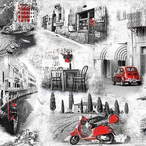 Papierservietten Italienische Straßen