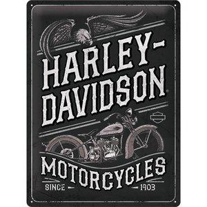 Harley Davidson Harley Davidson - Motorcycles Eagle metalen wandplaat 30x40 cm