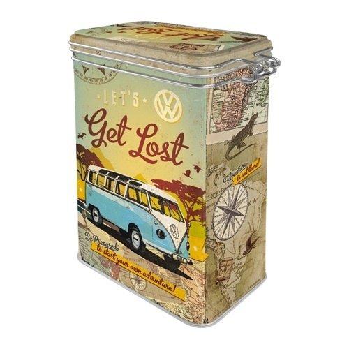 Volkswagen Volkswagen T1 Bus Metall 3D Aufbewahrungsbox von Nostalgic Art mit Deckel und Clipverschluss