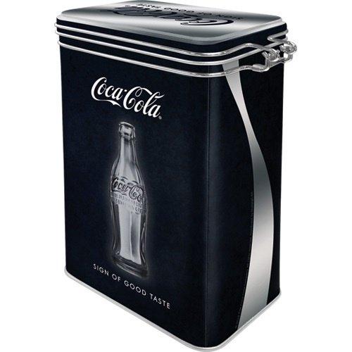 Coca-Cola Coca-Cola Good Taste Metall 3D Aufbewahrungsbox von Nostalgic Art mit Deckel und Clipverschluss