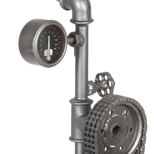 Antike graue Industrielle Tischlampe 36x29x69 cm