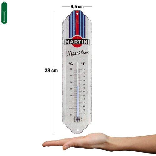 Martini Martini - L'Aperitivo Racing Stripes metalen thermometer 28x6,5 cm