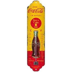 Coca-Cola Coca Cola Yellow metalen thermometer