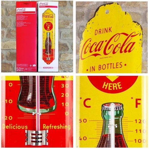 Coca-Cola Coca Cola Yellow Metallthermometer 28x6,5 cm