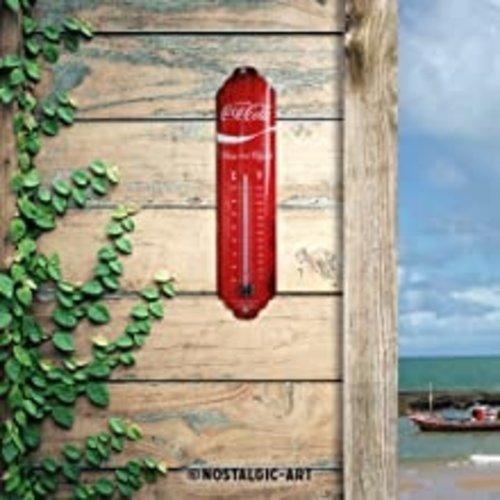 Coca-Cola Coca Cola Logo Red Wave metalen thermometer 28x6,5 cm