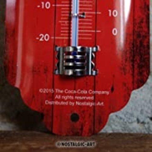 Coca-Cola Coca Cola Logo Red Wave Metallthermometer 28x6,5 cm