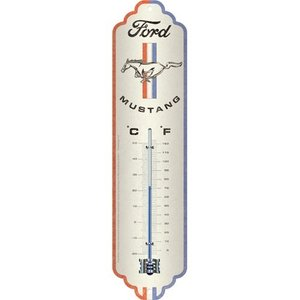 Ford Ford Mustang – Horse & Stripes Logo Metallthermometer