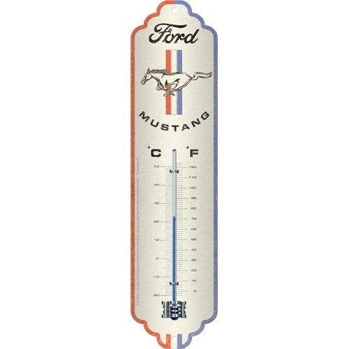 Ford Ford Mustang – Horse & Stripes Logo metalen thermometer