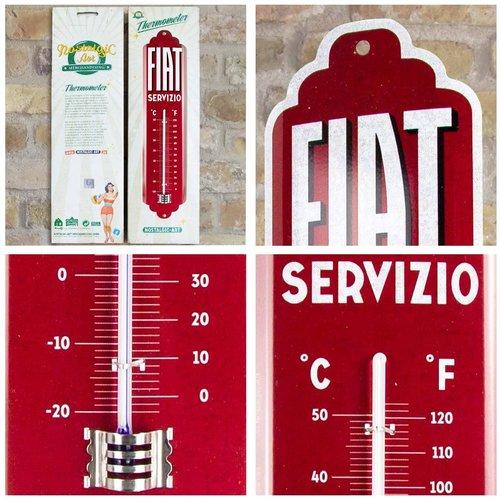 Fiat Fiat Servizio Metall-Thermometer 28x6,5 cm