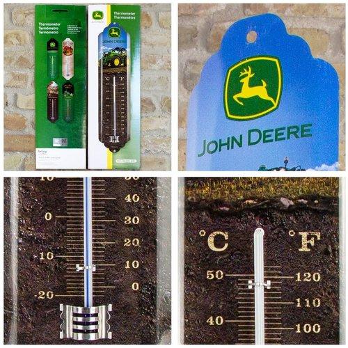 John Deere John Deere Metallthermometer 28x6,5 cm