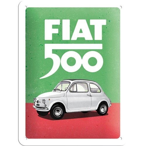 Fiat Fiat 500 italienische Farben geprägtes Metallwandschild
