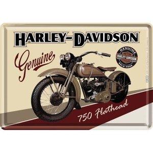 Harley Davidson Harley-Davidson Flathead Metall Postcarte 10x14 cm