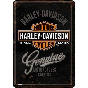 Harley Davidson Harley-Davidson Genuine Metalen Postcard 10x14 cm