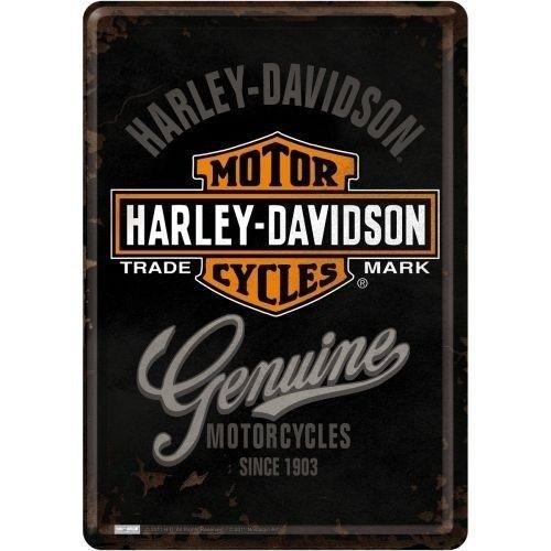Harley Davidson Harley-Davidson Genuine Metall Postcarte 10x14 cm