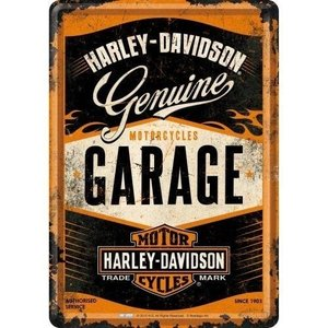 Harley Davidson Harley-Davidson Genuine Garage Metall Postcarte 10x14 cm