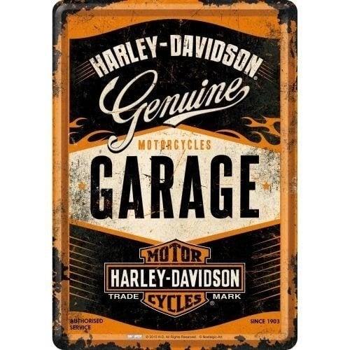 Harley Davidson Harley-Davidson Genuine Garage Metalen Postcard 10x14 cm