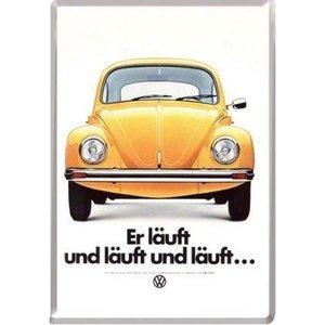 Volkswagen Volkswagen Kever Er Läuft Metalen Postcard 10x14 cm