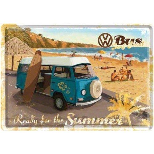 Volkswagen Volkswagen T2 bus Surf Coast Metall Postcarte 10x14 cm