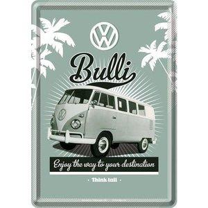 Volkswagen Volkswagen T1 Bulli The Way Metalen Postcard 10x14 cm