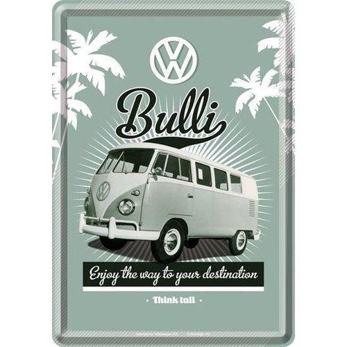 Volkswagen Volkswagen T1 Bulli The Way Metall Postcarte 10x14 cm