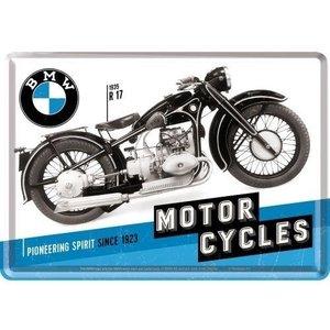 BMW BMW Timeline Motorcycles Metall Postcarte 10x14 cm