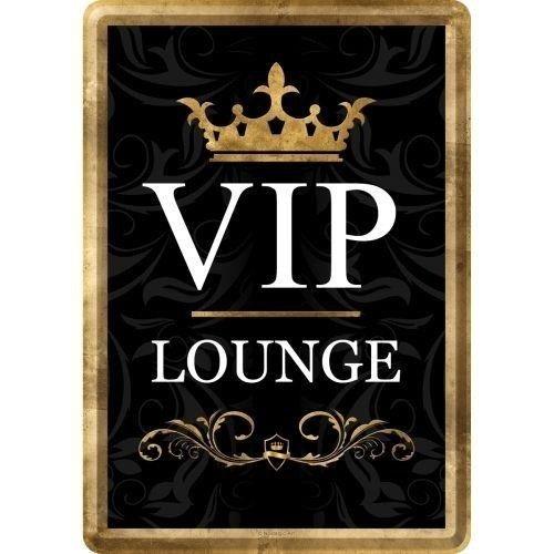 VIP Lounge Area Metall Postcarte 10x14 cm
