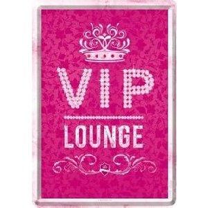 VIP Pink Lounge Metalen Postcard 10x14 cm