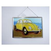 Volkswagen Käfer Fensterdekoration 21x30 cm