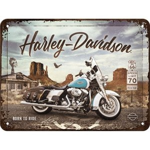 Harley Davidson Harley-Davidson - Route 66 Road King Classic metalen wandbord in reliëf