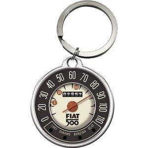 Fiat Fiat 500 Tachometer ronde metalen sleutelhanger