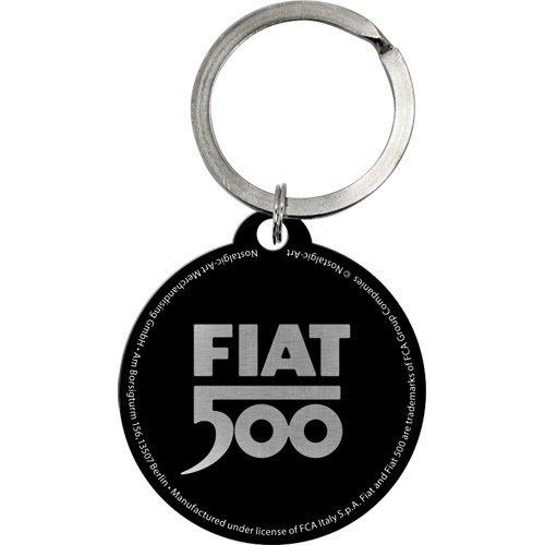 Fiat Fiat 500 Tachometer rund Metall Schlüsselanhänger Ø 4 cm