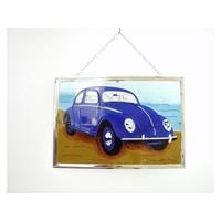 Volkswagen Kever Raamdecoratie 21x30 cm
