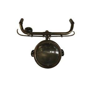 Fietsstuur wandlamp met bel