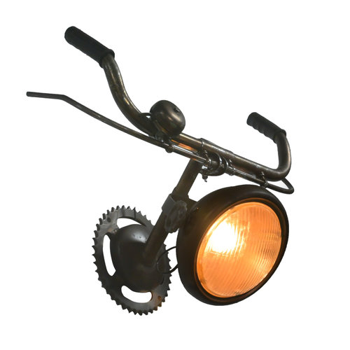 Fahrradlenker-Wandleuchte mit Fahrradklingel